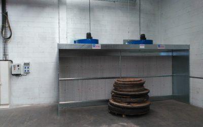 CABLES RCT. Instalación de cabina de pintura.