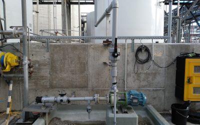 SAICA. Instalación descarga cisterna y conducción con tubería PVC-C.