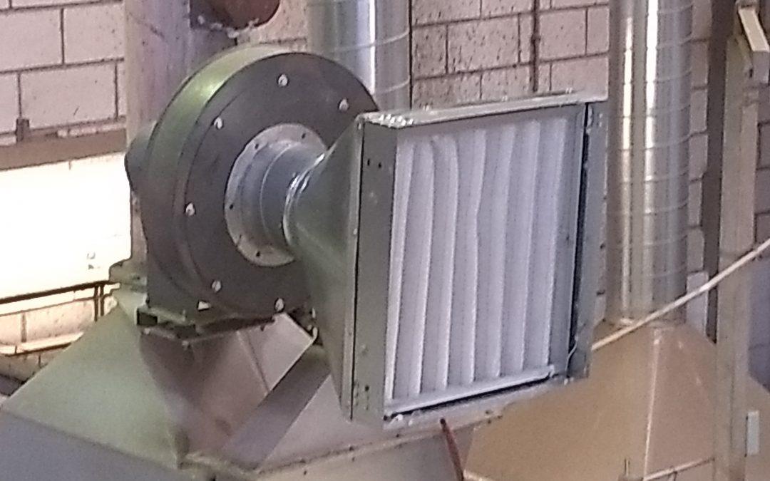 EXIDE TECHNOLOGIES. Filtración entrada aire a quemador para proteger un intercambiador de calor.