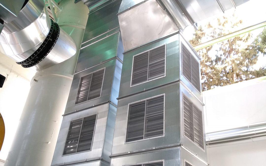 TEREOS. Ventilación General nueva sala calderas.