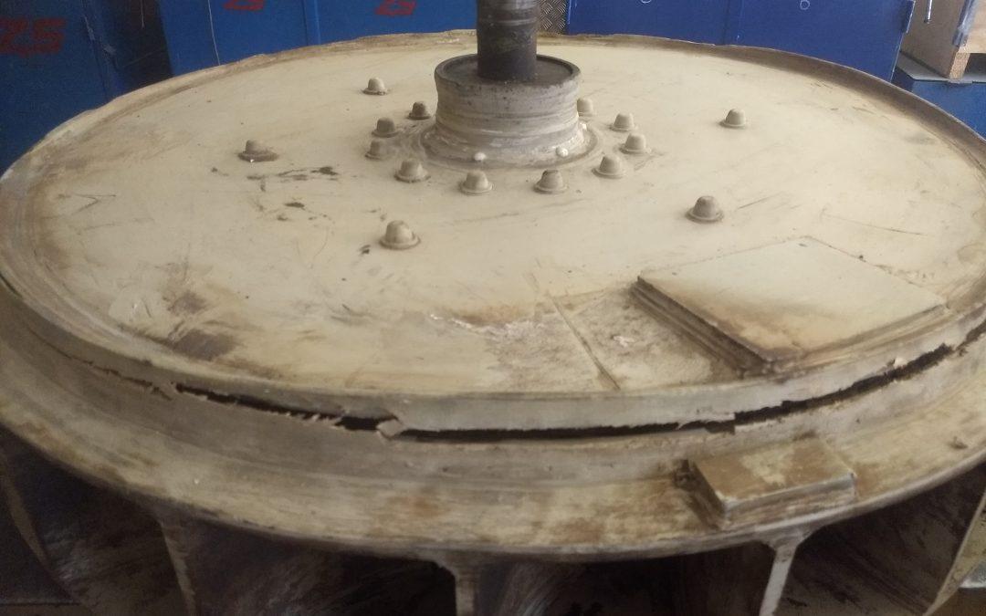 EXIDE TECHNOLOGIES. Reparación y equilibrado ventilador PP lavador gases.