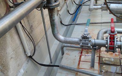 Fabricación y montaje de Atarjea o canaleta de polipropileno